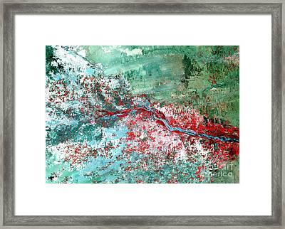 Rift Valley Flooding Landsat 2000 Framed Print