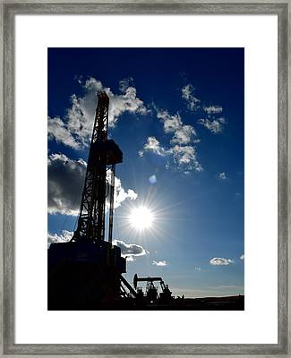Rig And Well In The Sun Framed Print by Miss Judith