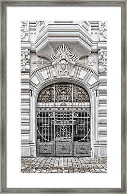 Riga Art Nouveau District 03 Framed Print by Antony McAulay