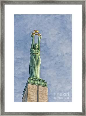 Riga Freedom Monument 04 Framed Print by Antony McAulay