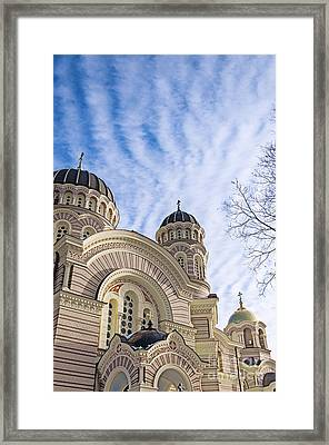 Riga Orthodox Cathedral 01 Framed Print