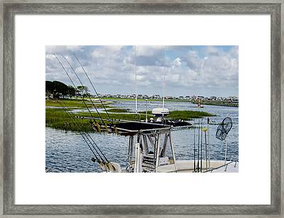 Rigged And Ready Framed Print by Ed Waldrop