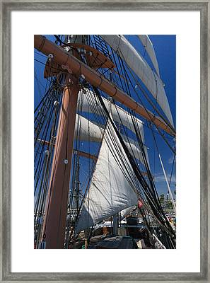 Rigging All Over Framed Print by Scott Campbell