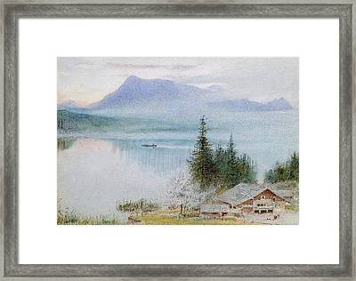 Righi Framed Print by Albert Goodwin