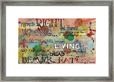 Framed Print featuring the mixed media Right And Wrong by Tim Oliver