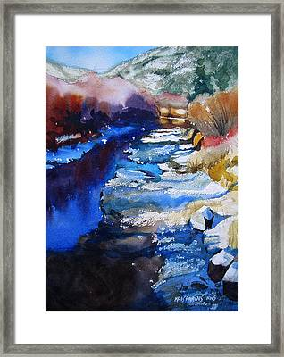 Right Bank Framed Print