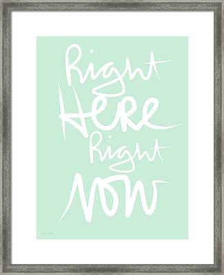 Right Here Right Now Framed Print by Linda Woods