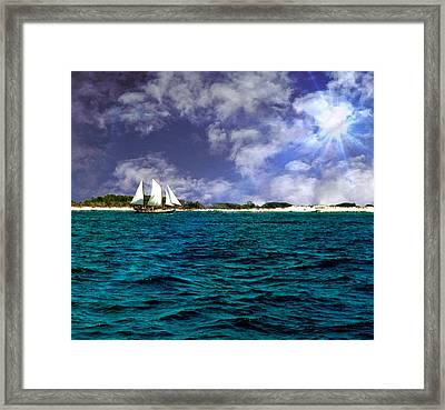 Right On Course...... Framed Print