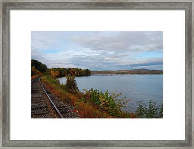Right Side Of The Track Framed Print by Mim White