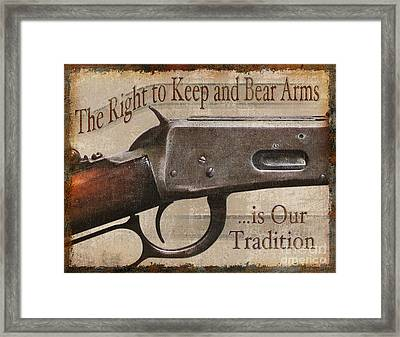 Right To Bear Arms Framed Print by JQ Licensing