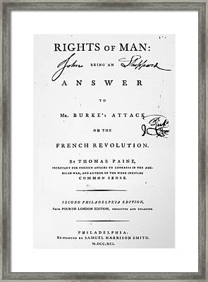 Rights Of Man, 1791 Framed Print by Granger