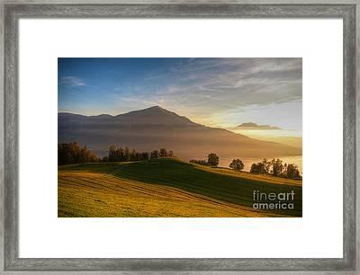 Rigi - Queen Of The Mountains Framed Print by Caroline Pirskanen
