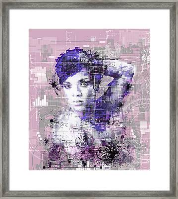 Rihanna 3 Framed Print by Bekim Art