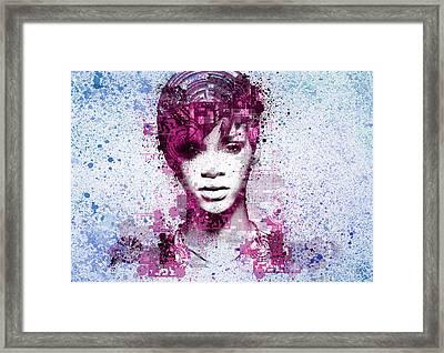Rihanna 8 Framed Print