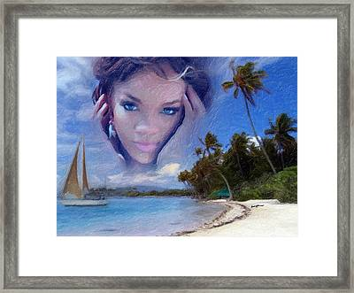 Rihanna Framed Print by Anthony Caruso