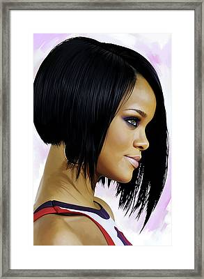Rihanna Artwork Framed Print by Sheraz A