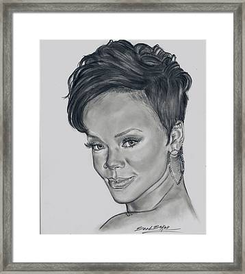 'rihanna' Framed Print by Barb Baker
