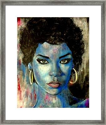 Blue Lady Framed Print by Christopher Brown