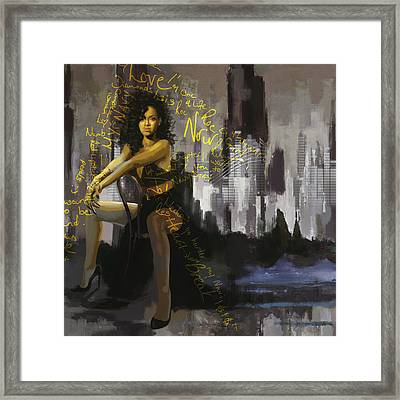 Rihanna Framed Print by Corporate Art Task Force
