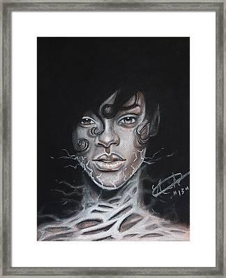 Rihanna Electric Darkness Framed Print