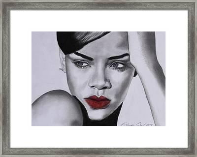 Rihanna - Individual Red Framed Print