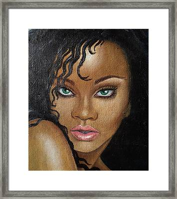 Rihanna Framed Print by Lauri Loewenberg