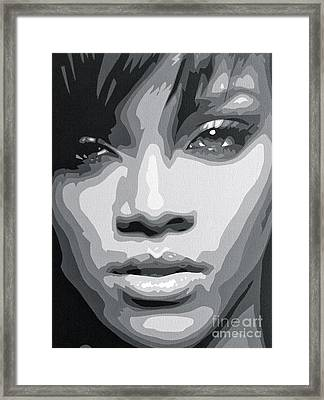 Rihanna  Framed Print by Siobhan Bevans
