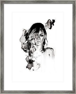 Rihanna Stay Framed Print by Molly Picklesimer