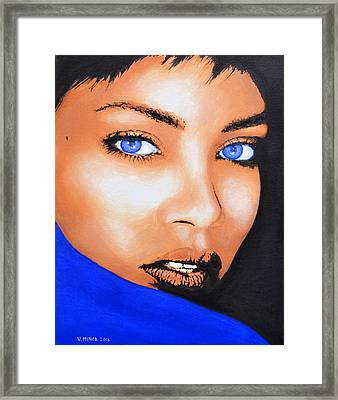 Rihanna Framed Print by Victor Minca