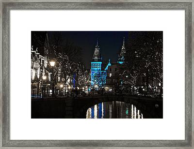 Rijksmuseum In Blue Framed Print