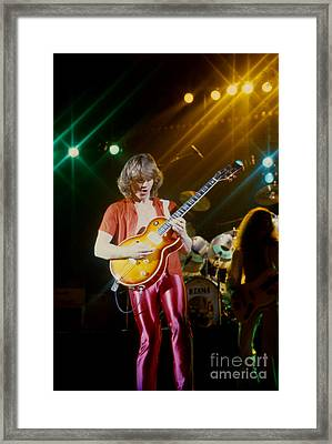 Rik Emmett Of Triumph At The Warfield Theater In San Francisco Framed Print