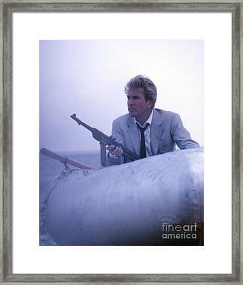 Rik Van Nutter As Felix Leiter In Thunderball Framed Print by The Harrington Collection