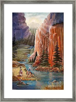 Rim Canyon Ride Framed Print