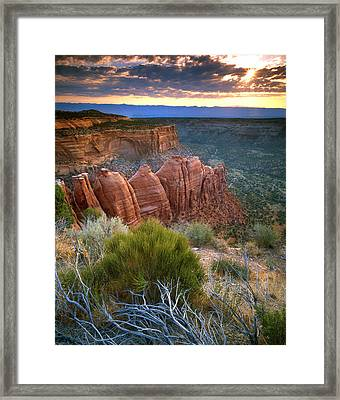 Rim Drive Sunrise Framed Print