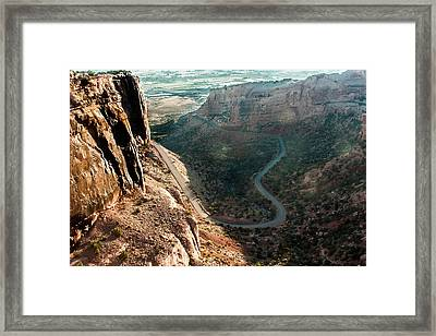 Rim Rock Drive Framed Print