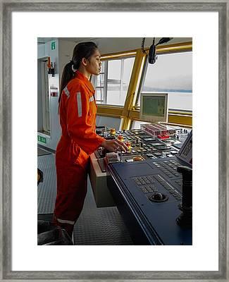 Rima Lumangtad Anchoring Z-drive Ship Framed Print