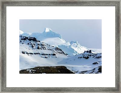 Rime Deposits On Oraefajokull Volcano Framed Print by Dr Juerg Alean