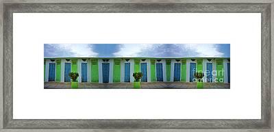 Rimini Beach Panorama Framed Print