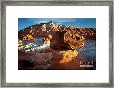 Rimrock Badlands Framed Print by Inge Johnsson