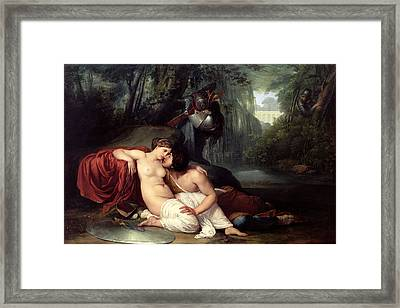 Rinaldo And Amida Framed Print by Francesco Hayez