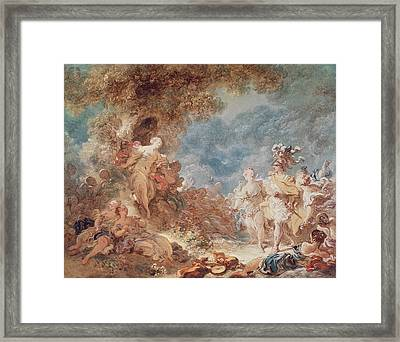 Rinaldo In The Gardens Of Armida Oil On Canvas See Also 250309 Framed Print by Jean-Honore Fragonard