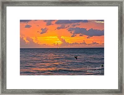 Rincon Sunset Framed Print