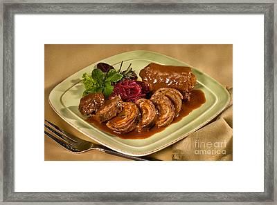 Rinder Rouladen - Beef Rolades Framed Print