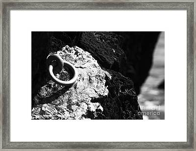 Ring And Rock Framed Print by Anne Gilbert