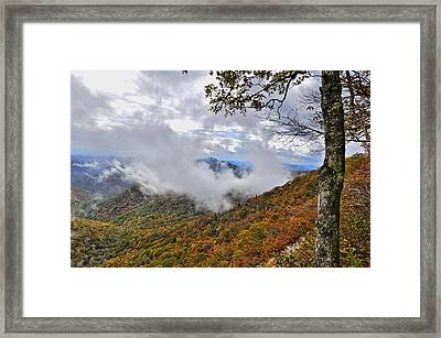 Ring Around The Mountain Framed Print by Susan Leggett