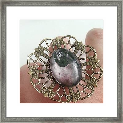 #ring #cammeo #steampunk #jewelry Framed Print