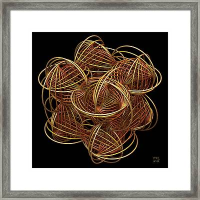 Ring Cube II Framed Print by Manny Lorenzo