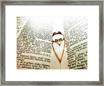 Ring Heart Shadow Framed Print