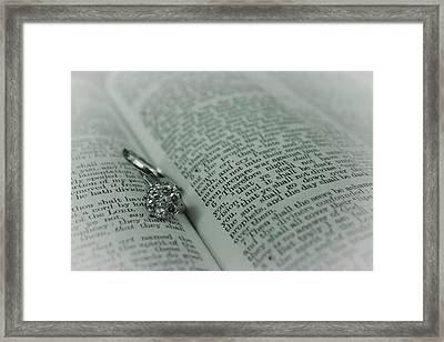 Ring Framed Print by Jennifer Burley