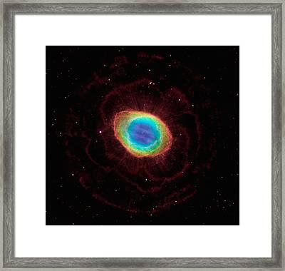 Ring Nebula Framed Print by Celestial Images